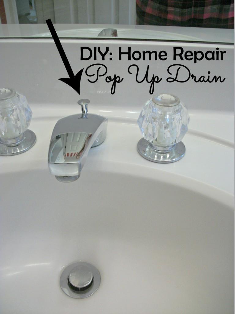 Diy Home Repair Pop Up Sink Drain Before 3 Pm